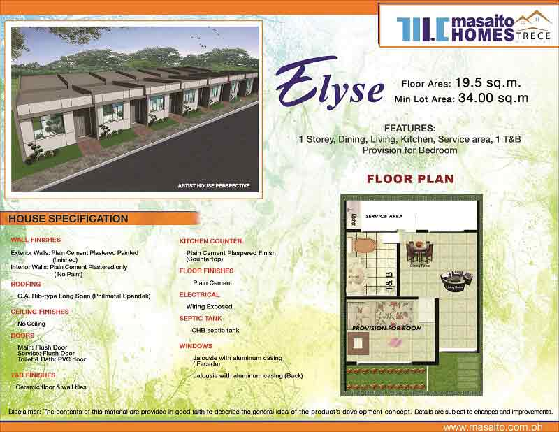 Masaito Homes At Trece Martires