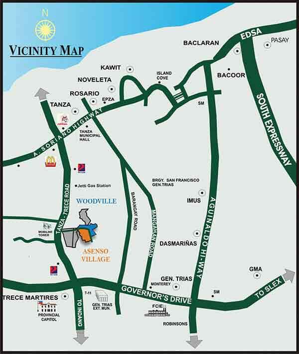 Woodville General Trias - Location & Vicinity