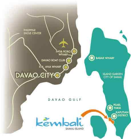 Kembali Coast Davao - Location & Vicinity