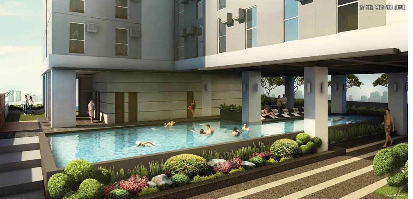 Studio 7 Filinvest  - Lap Pool with Aqua Lounge