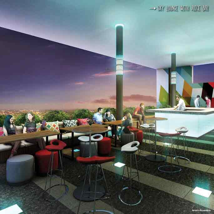 Studio 7 Filinvest  - Sky Lounge with Juice Bar