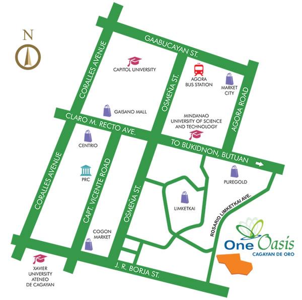 One Oasis Cagayan De Oro - Location & Vicinity