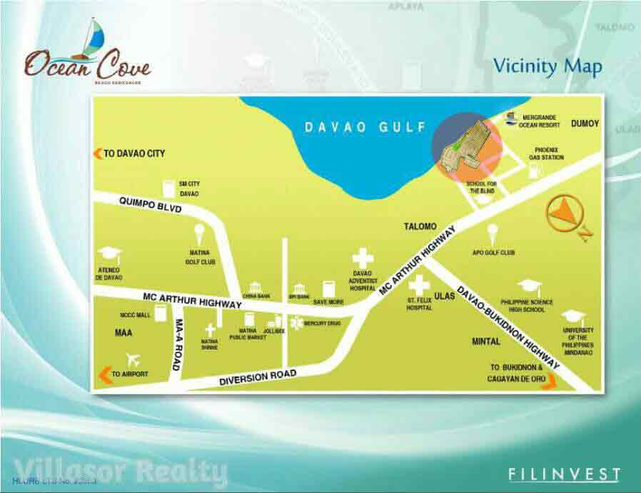 Ocean Cove Davao - Location & Vicinity
