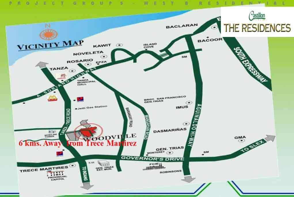 Castillon Homes - Location Map