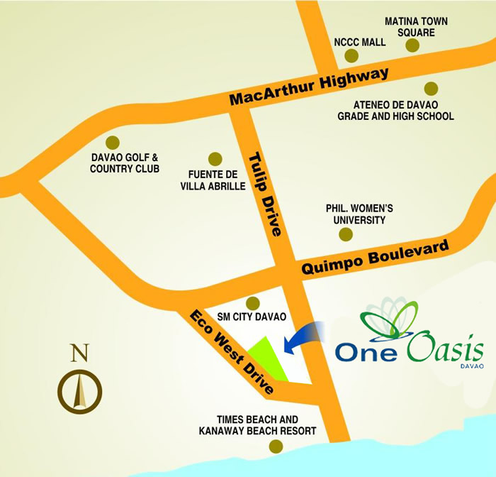 One Oasis Davao - Location & Vicinity