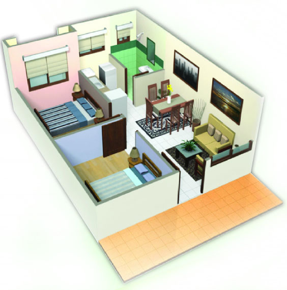 One Oasis Davao - Two Bedroom Unit
