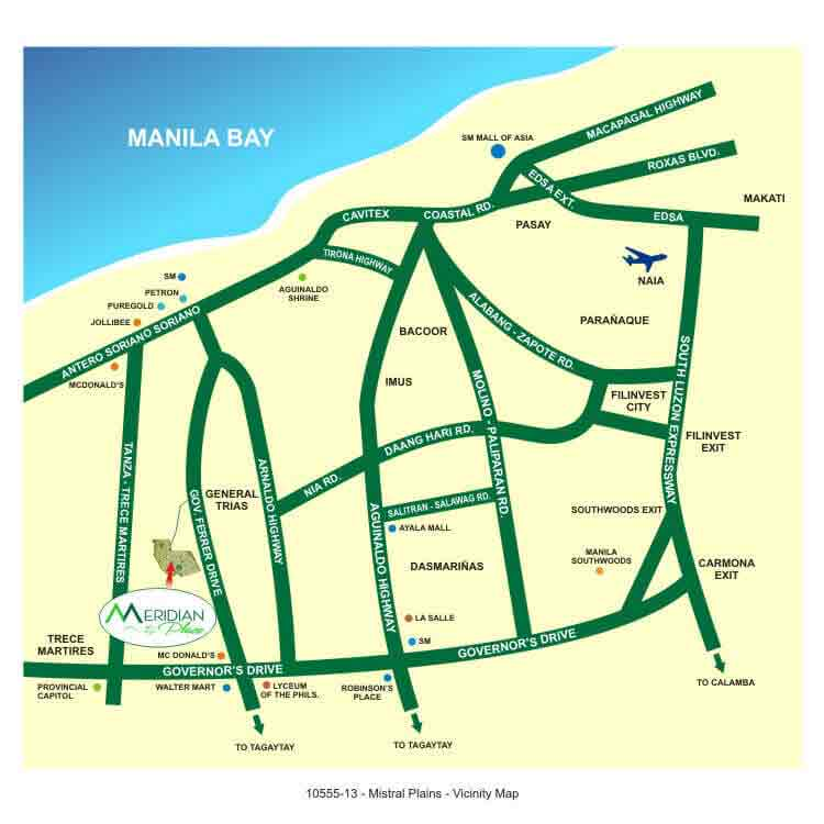 Filinvest Meridian Place - LOCATION & VICINITY