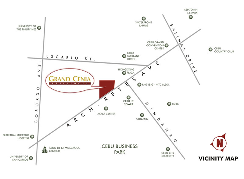 Grand Cenia Cebu - Location & Vicinity