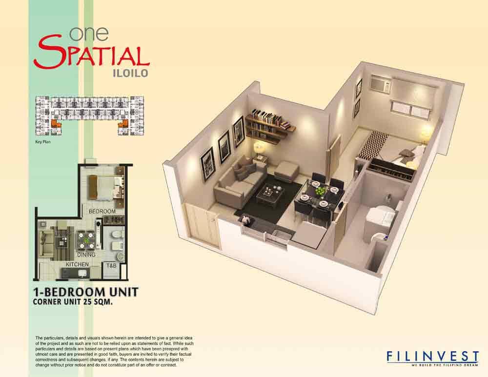2 Torre Lorenzo - One Bedroom Unit
