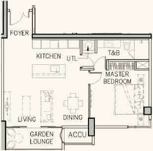 Arbor Lanes - 1-Bedroom Classic