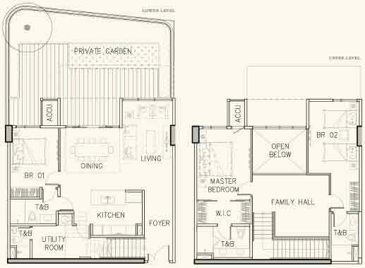 Arbor Lanes - 3-Bedroom Garden Suite