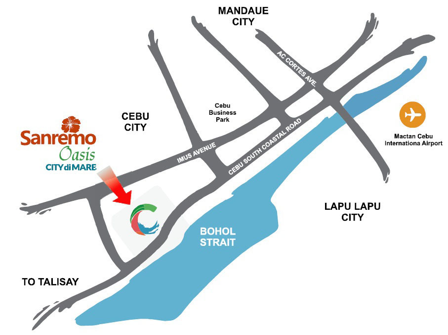 Sanremo Oasis Cebu - Location & Vicinity