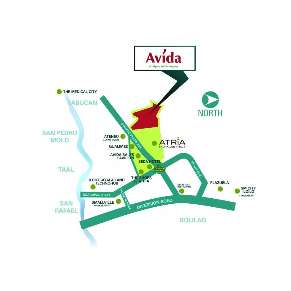 Avida Storeys Atria - Location Map
