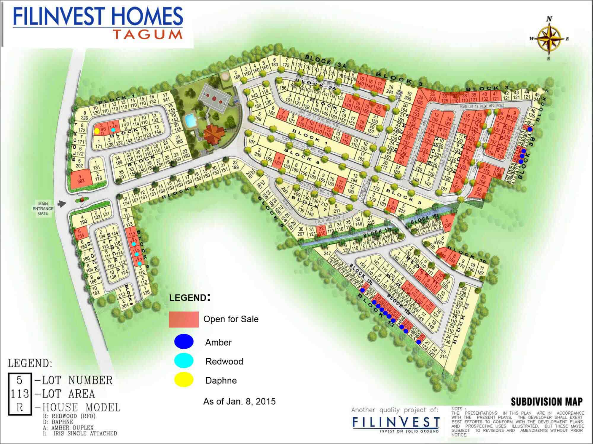 Filinvest Homes Tagum - Site Develomment Plan