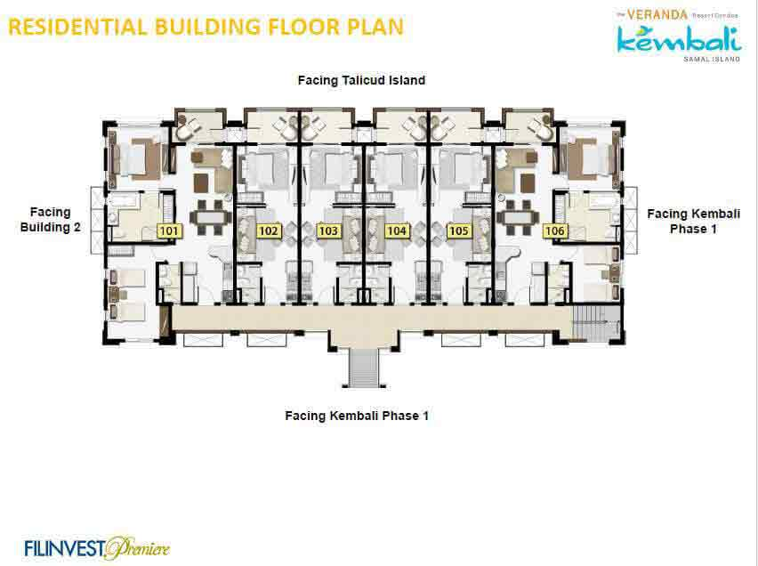 Veranda Resort Davao - Residential Building Floor Plan