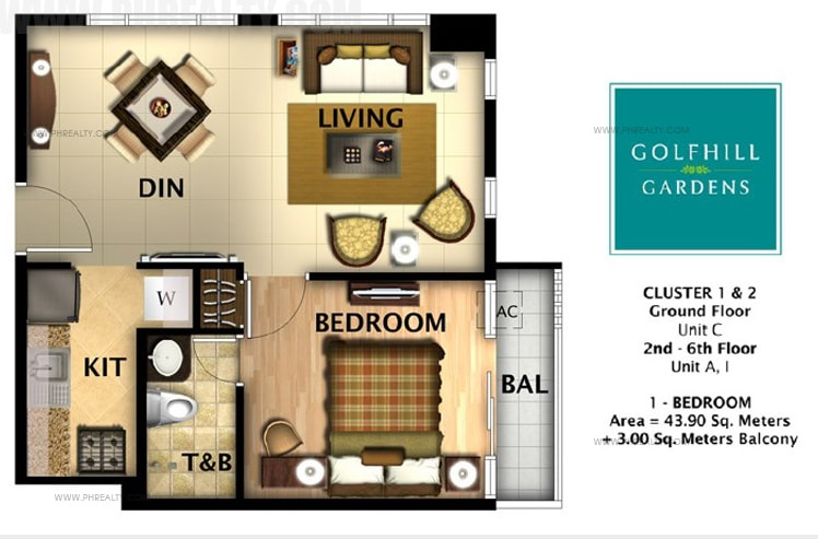 Golfhill Gardens - One Bed