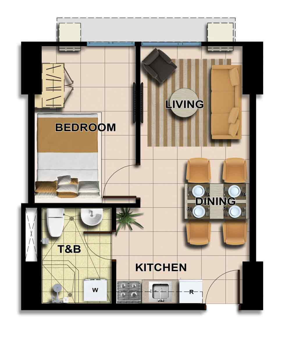 Avida towers centera condominium in boni mandaluyong for Condo blueprints