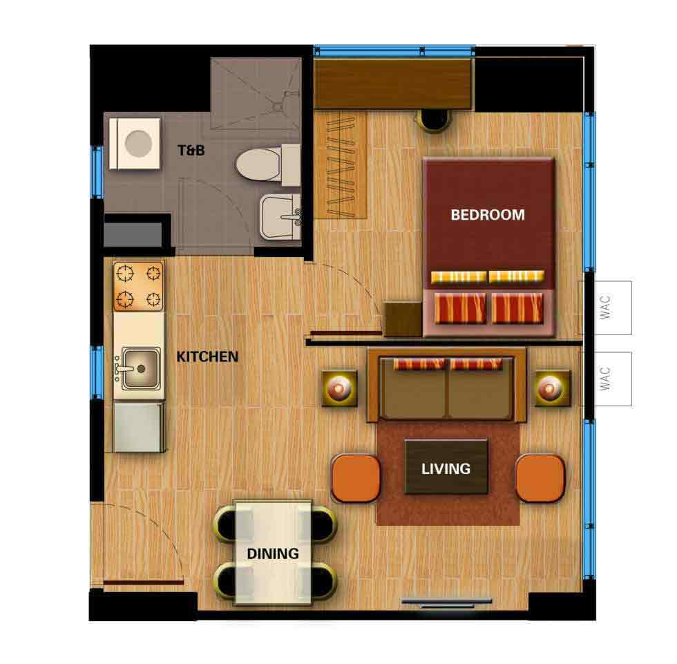 Avida Towers Cloverleaf  - 1 Bedroom Unit