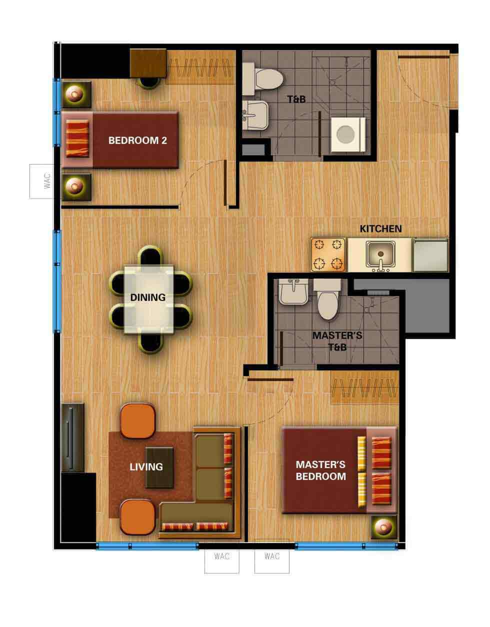 Avida Towers Cloverleaf  - 2 Bedroom Unit