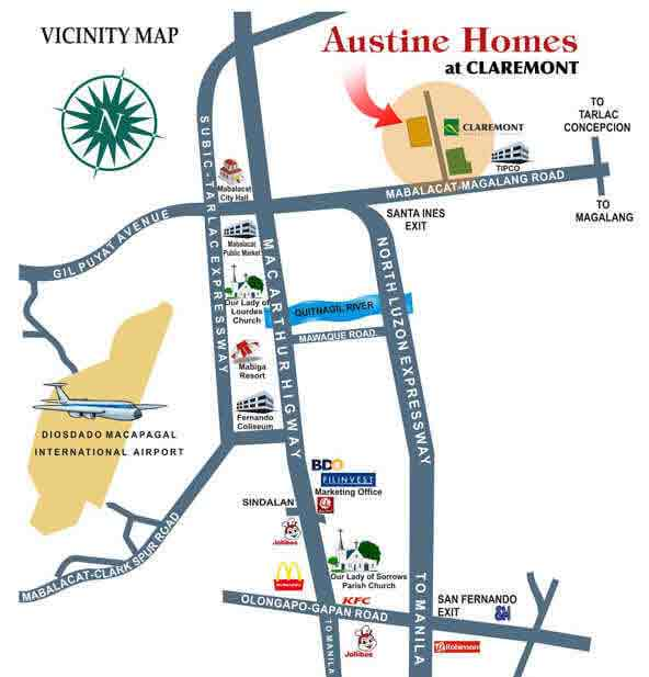 Austin Homes Claremont - Location & Vicinity