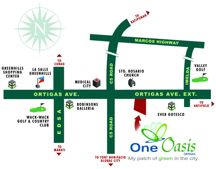 Filinvest One Oasis - Location & Vicinity