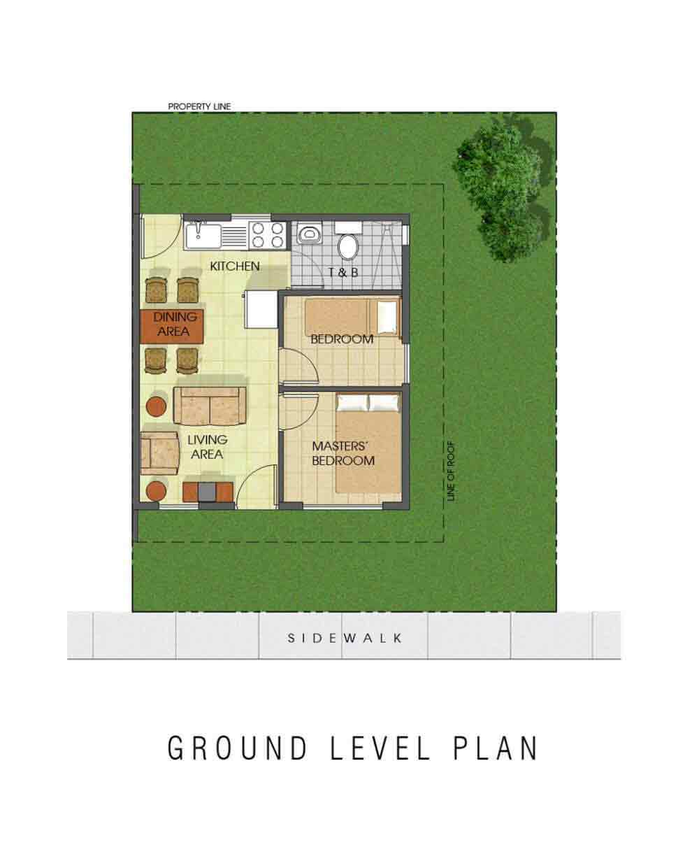 Avida Village Santa Cecilia - Ground Floor Model Plan
