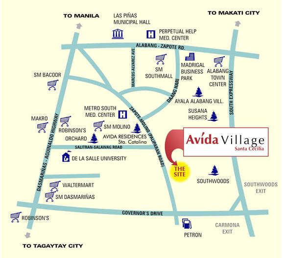 Avida Village Santa Cecilia - Location and Vicinity