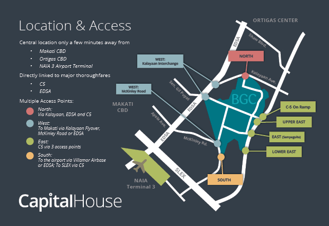 Capital House  - Location Map