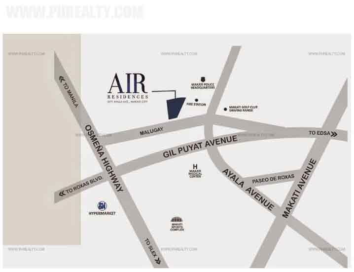 Air Residences - Location & Vicinity
