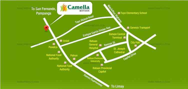 Camella Bataan - Location & Vicinity