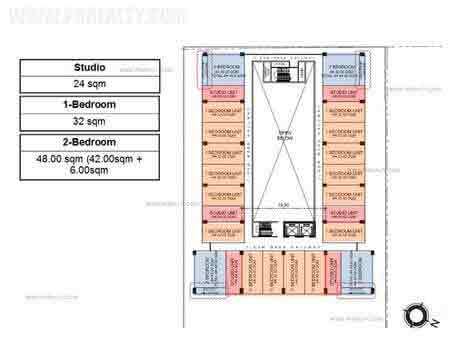 Escalades East Tower - Floor Plan (Level 4 to 14)