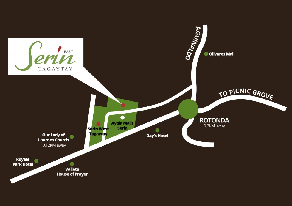 Serin East Tagaytay  - Location Map