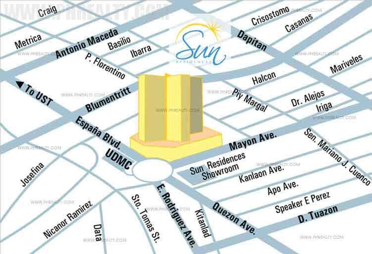 Sun Residences - Location & Vicinity