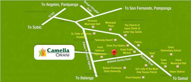 Camella Orani - Location & Vicinity