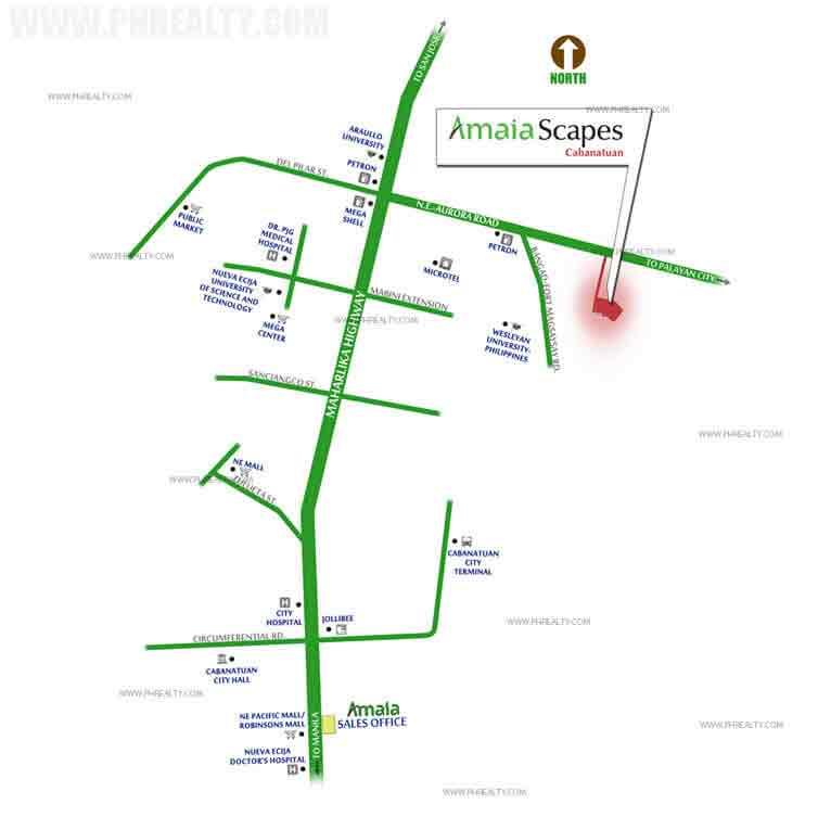 Amaia Scapes Cabanatuan - Location & Vicinity