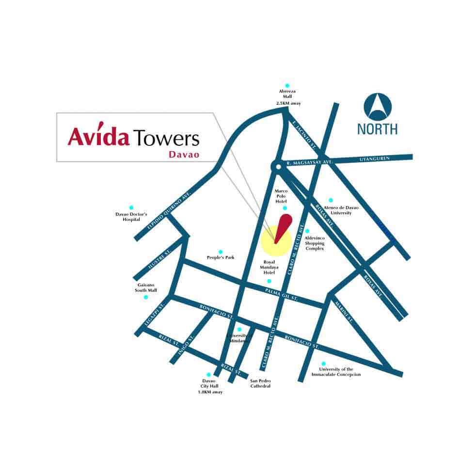 Avida Towers Davao - Location & Vicinity