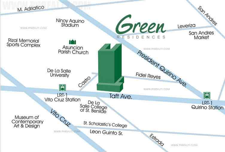 Green Residences - Location & Vicinity