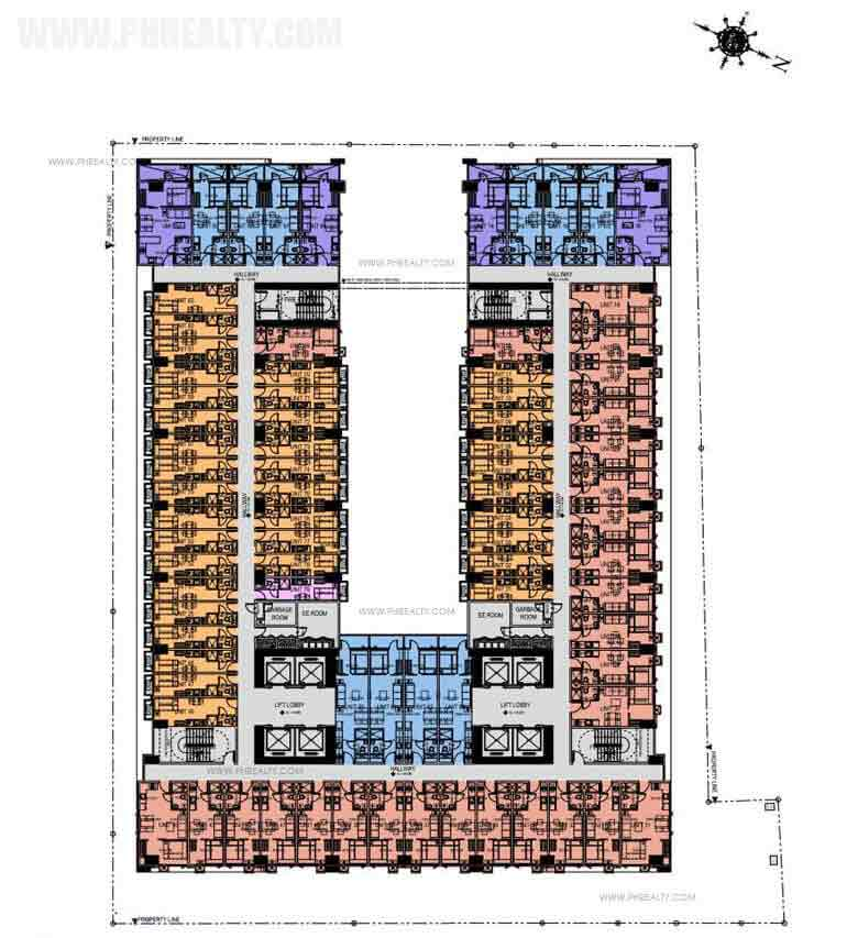 Green Residences - 34th - 40th & 49th - 52nd Floor Plan