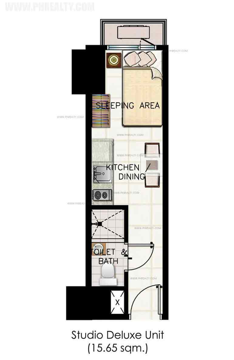 Green Residences - Studio Deluxe Unit