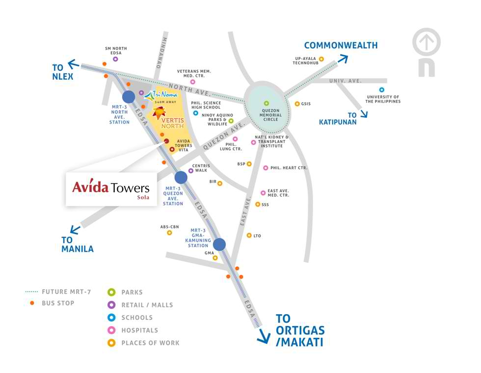 Avida Towers Sola - Location Map