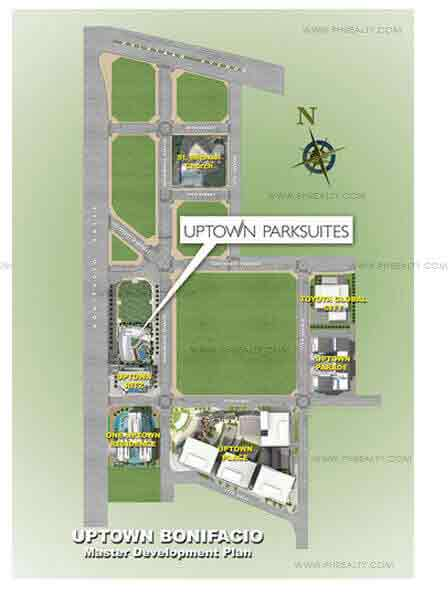 Uptown Parksuites - Location and Vicinity