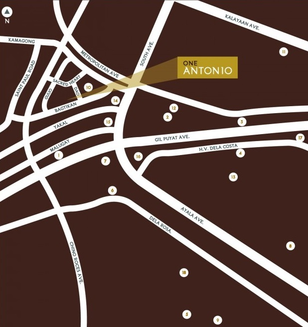 One Antonio - Location Map