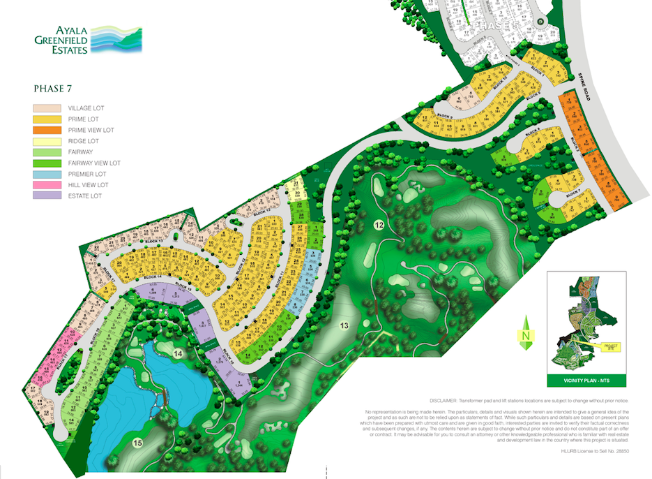 Ayala Greenfield Estates - Site Development Plan