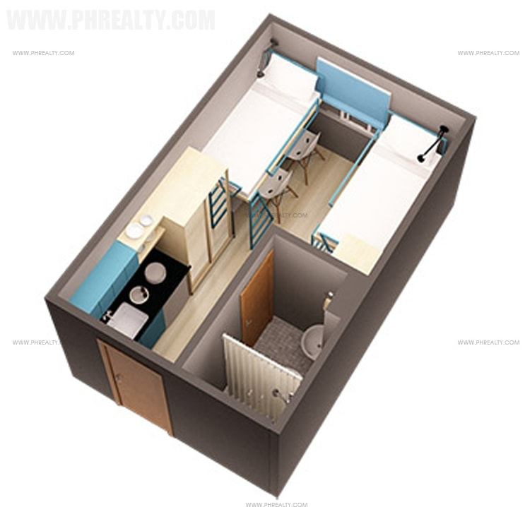 Space Taft - 15 SQM Unit Layout
