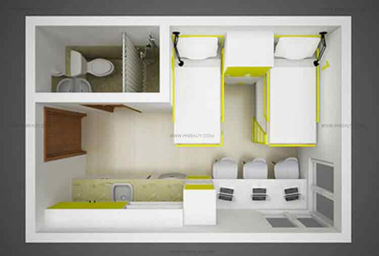 Space Taft - 18 SQM Unit Layout