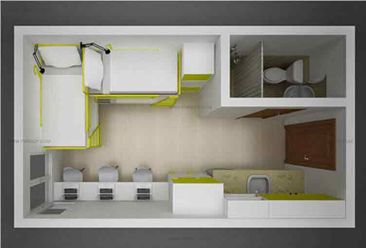 Space Taft - 19 SQM Unit Layout