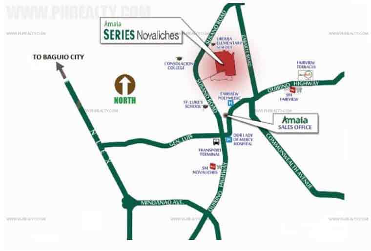 Amaia Series Novaliches - Location & Vicinity