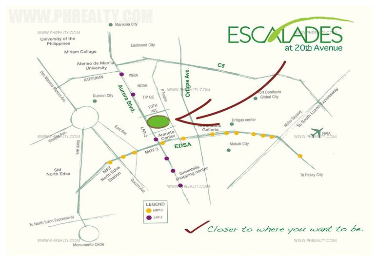 Escalades At 20th Avenue - Location & Vicinity