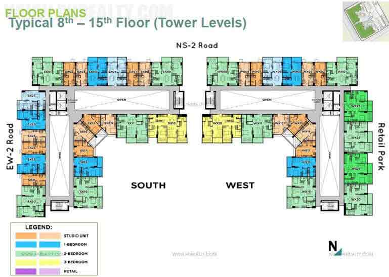 The Veranda  - Typical 8th-15th Floor Plan