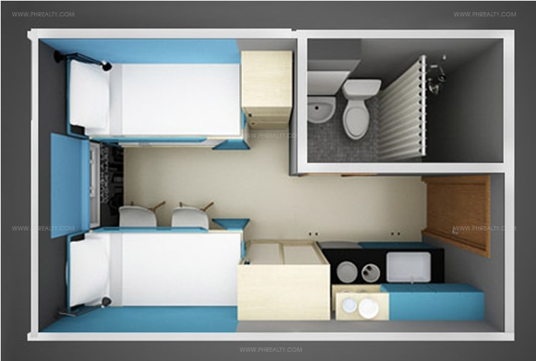 Space San Marcelino - 14 SQM Unit Layout